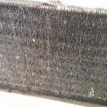 Dust Trapped in Filter of Commercial Aircon