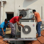 Aircon Compressor Installation on Private Property Rooftop